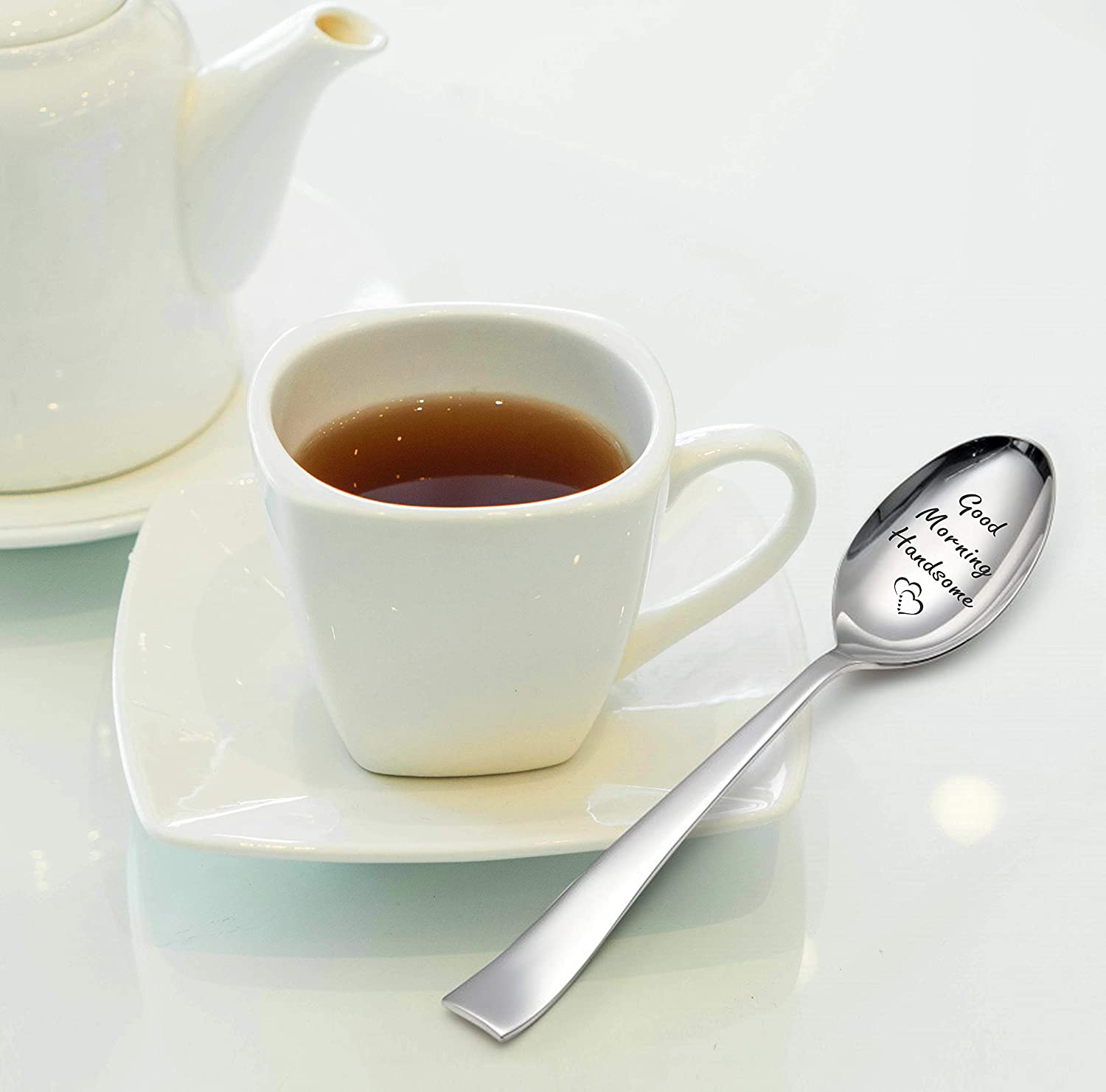 Cuill/ère cadeau S Good Morning Handsome-engraved Spoon-love Gifts-love Gifts for Girlfriend-love Gifts for Husband-love Gifts for Wife