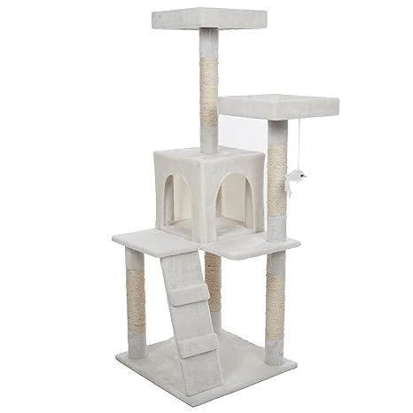 Amazon.com: petmaker Penthouse Dormir y Jugar al gato Árbol ...