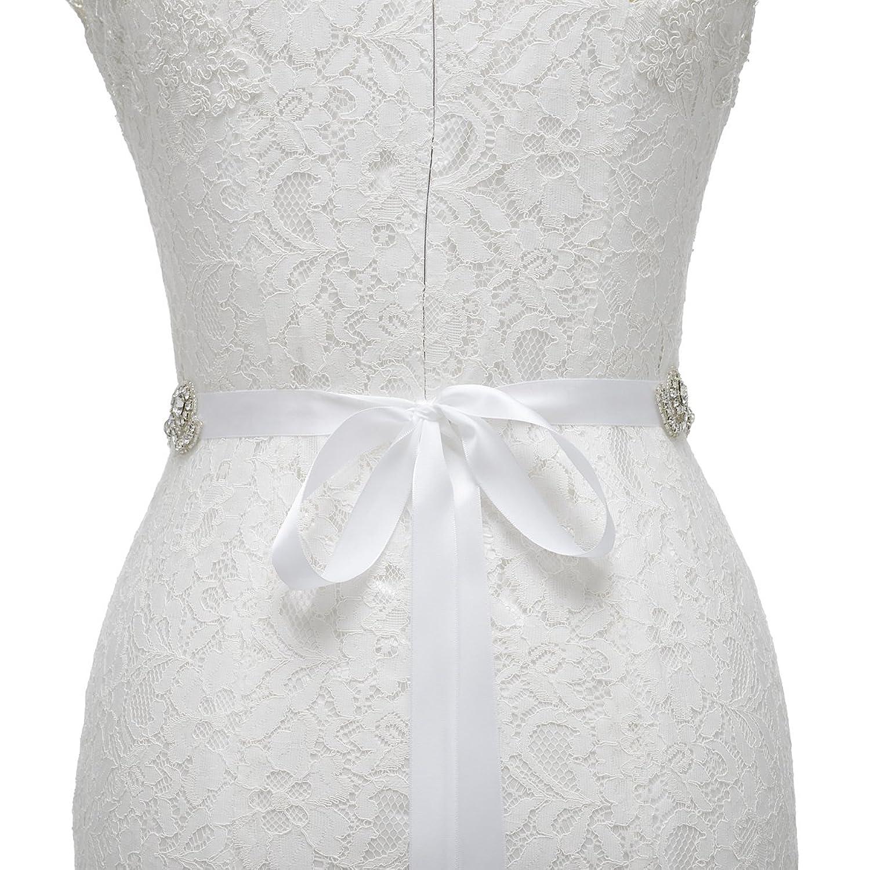 Handmade crystal bridal belt rhinestone pearl luxury wedding dress - Remedios Bridal Sash Belt With Diamond Design For Women Gifts Nice Gifts White At Amazon Women S Clothing Store