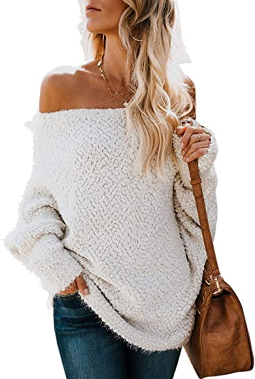 Dearlove Womens Casual Long Sleeve V Neck Knit Oversized Sweaters Loose Pullover Tops