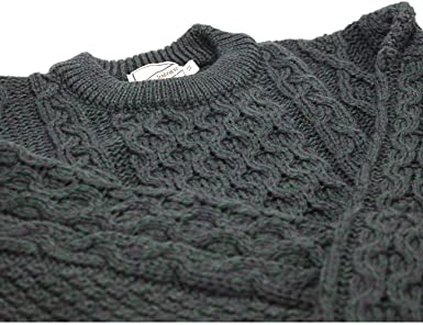 f20f3ee02dd6 Kerry Woollen Mills Aran Wool Sweater Crewneck Unisex Made in ...