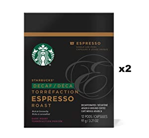 Starbucks Decaf Espresso Roast Espresso Verismo Pods (24 Count)