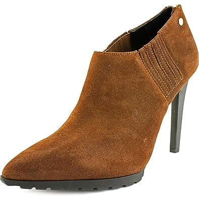 Womens Boots Calvin Klein Berrie Cigar Brown Waxy Suede