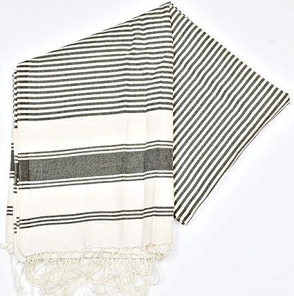 Trinidad negro 2 – 100% algodón zusenzomer – toalla, 100 cm x 200 cm