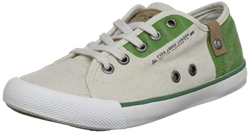 Pepe Jeans London BTJ-271 B1 - Zapatillas de lona infantil, color verde, talla 32: Amazon.es: Zapatos y complementos