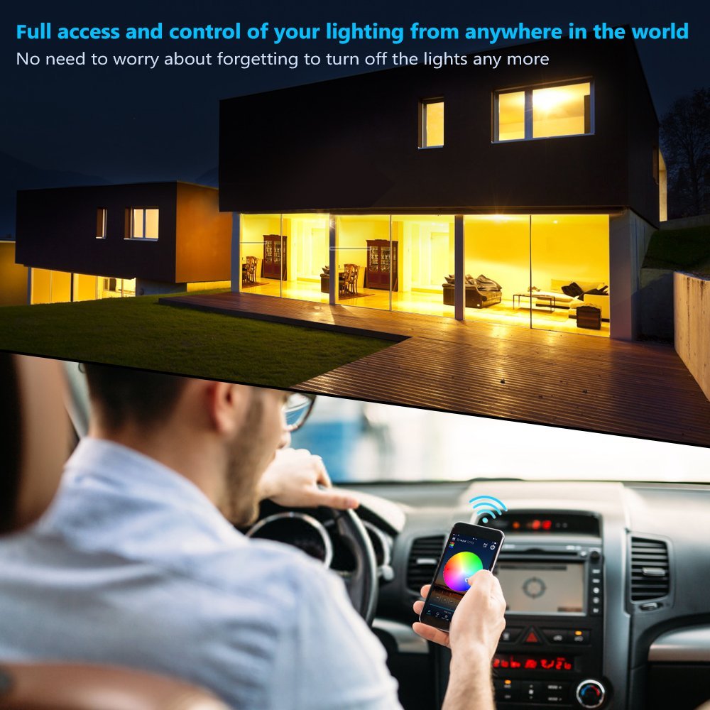 Nexlux LED Strip Lights, WiFi Wireless Smart Phone Controlled Light Strip LED Kit 5050 LED Lights,Working with Android and iOS System,Alexa, Google Assistant by Nexlux (Image #6)