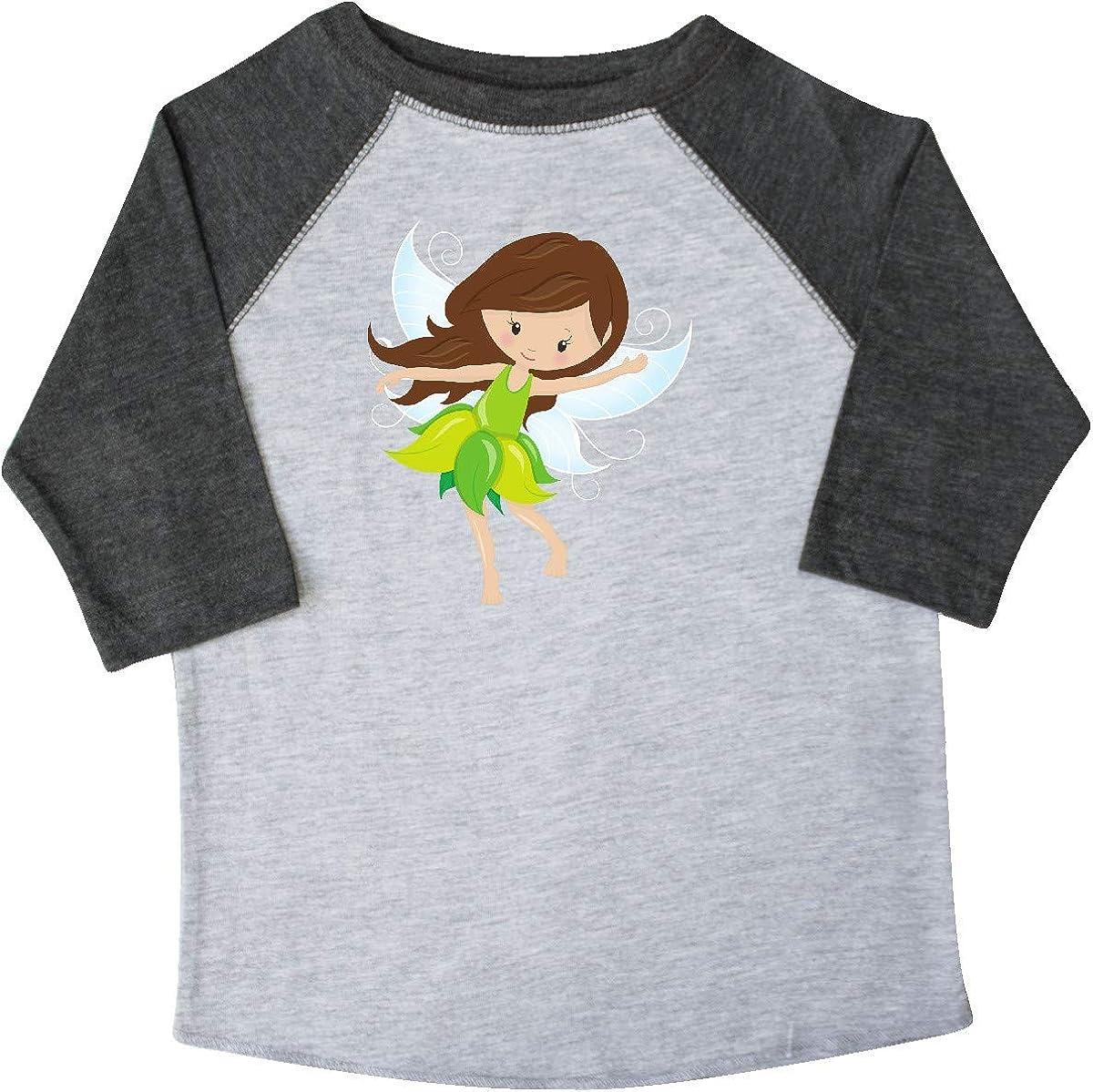 Brown Hair Fairy in Blue Dress Toddler T-Shirt inktastic Cute Fairy