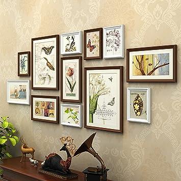 AXZPQ Wandbehang Fotorahmen Sammlung Im Amerikanischen Stil Wohnzimmer  Schlafzimmer Bild Kombination (Farbe : B)