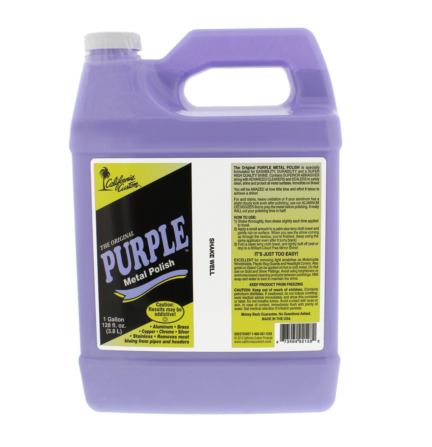 California Custom Purple Metal Polish 1 Gallon Size California Custom Products 4333114266