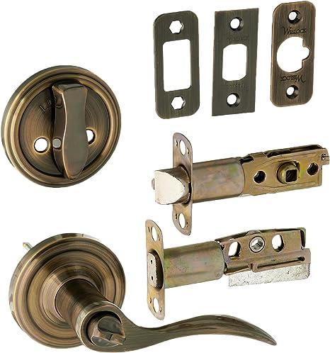 Weslock L1300 Uasl20 Lexington 1300 Series Entry Handle Antique Brass Doorknobs Amazon Com