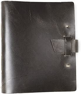 product image for Traveler Leather Journal by Rustico with Buckle Closure, 8 by 6.5 Inches, Charcoal, Made in The USA