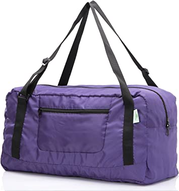 Purple Musical Notes Travel Carry Luggage Duffle Tote Bag