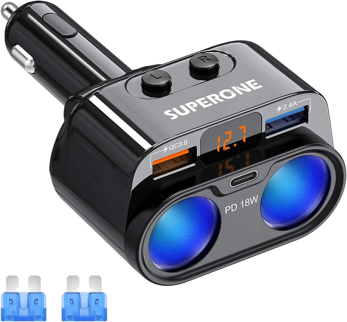 Superone 2-Socket Lighter Splitter