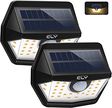 Luz Solar Exterior CLY 3000K,Aplique Solar 30 LED Blanco Cálido,foco Solar Con Sensor de Movimiento 450LM,Ángulo de luz 200ºImpermeable IP65 para Jardín, Patio,Camino[2 Paquete]: Amazon.es: Bricolaje y herramientas