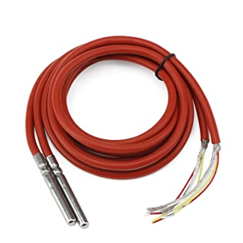 DROK® 2 paquetes Sensor de temperatura impermeable 1 metro Cable blindado de silicona, DS18B20 Sensor ...