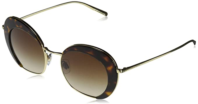 Armani 0AR6067 301313 50, Gafas de Sol para Mujer, Dorado ...