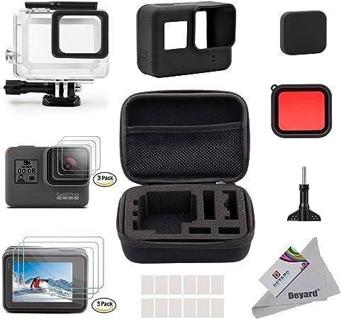 Oferta amazon: Deyard Kit de Accesorios para GoPro Hero 7 (Sólo negro) Hero (2018), GoPro Hero 6 y Hero 5 Action Camera, 25 artículos en 1, con Carcasa pequeña a Prueba de Golpes