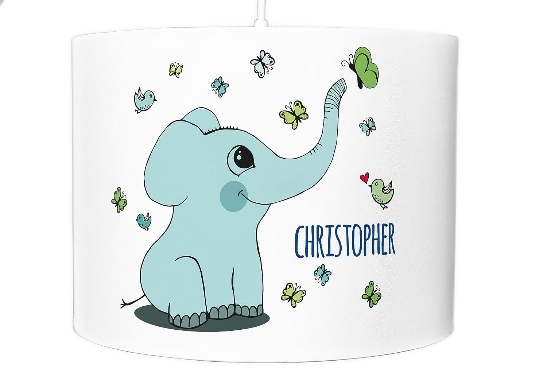 Deckenlampe Kinderzimmer Lampenschirm Name Kinderlampe Lampe Elefant ...