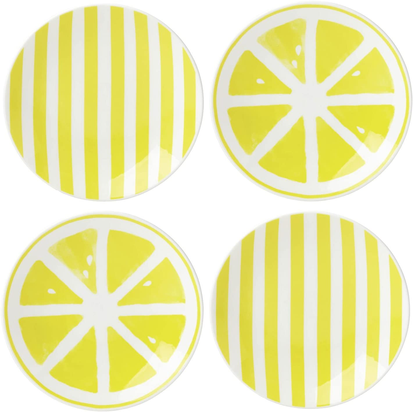 "Kate Spade New York Lemon Accent Salad Melamine 9/"" Plate New"