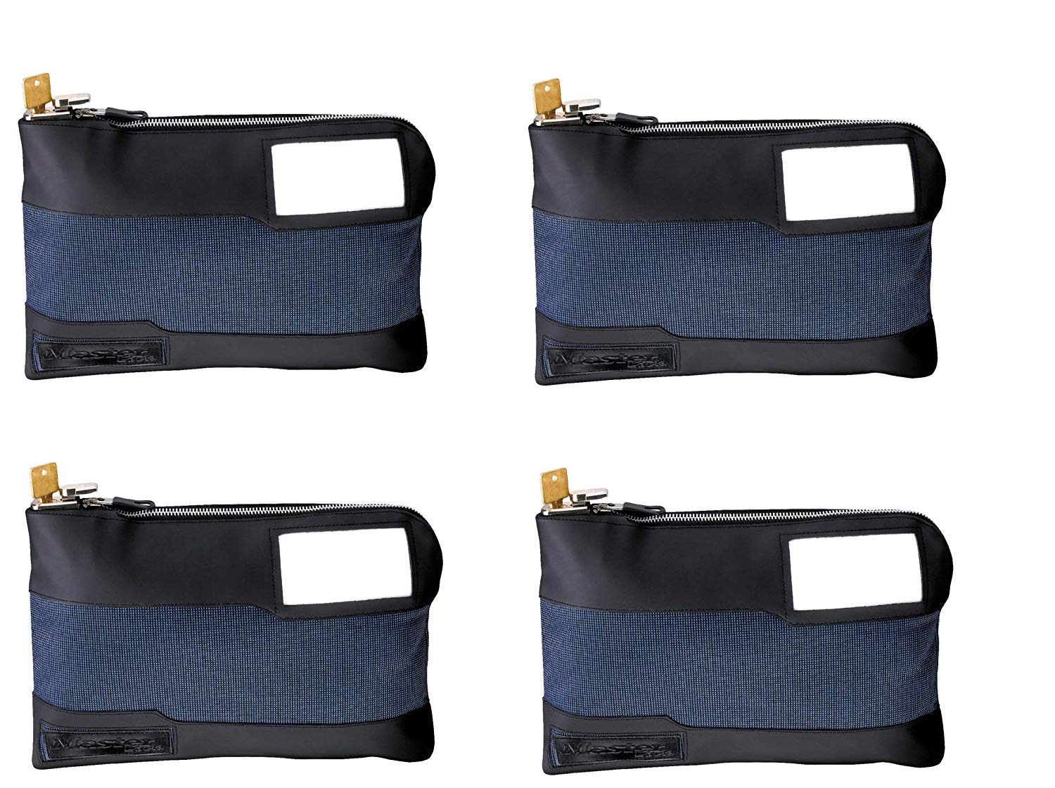 Master Lock 7120D Money Bag with Key Lock 11-1/2 in. Long, Blue (Pack of 4) by Master Lock