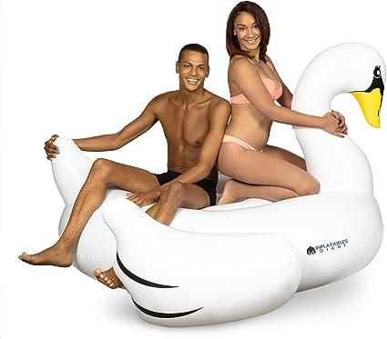 Amazon.com: hinchables gigante Cisne Blanco piscina Flotador ...