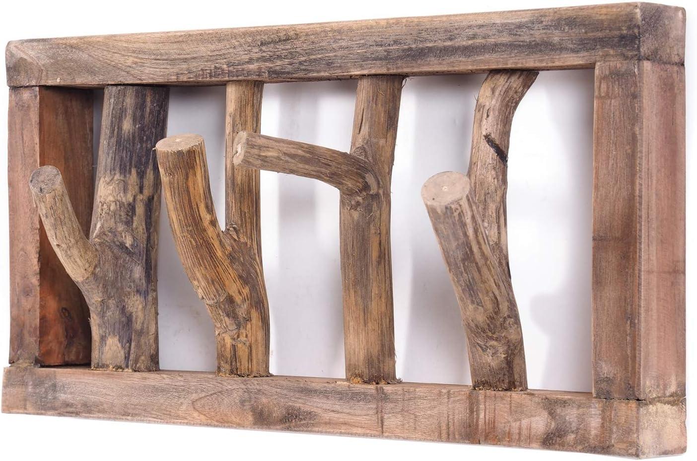 Treibholz Garderobe Klein Holz braun