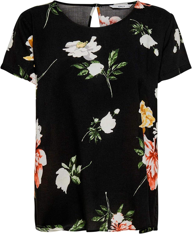 Only Onlfirst One Life SS AOP Top Noos Wvn Camiseta para Mujer