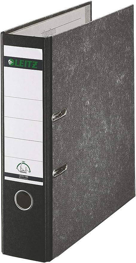 16 A4 LEITZ-Ordner wolkenmarmor Rücken grau 80mm breit