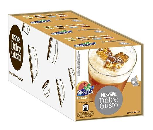 Nescafé Dolce Gusto Nestea Peach, Paquete de 3, 3 x 16 ...