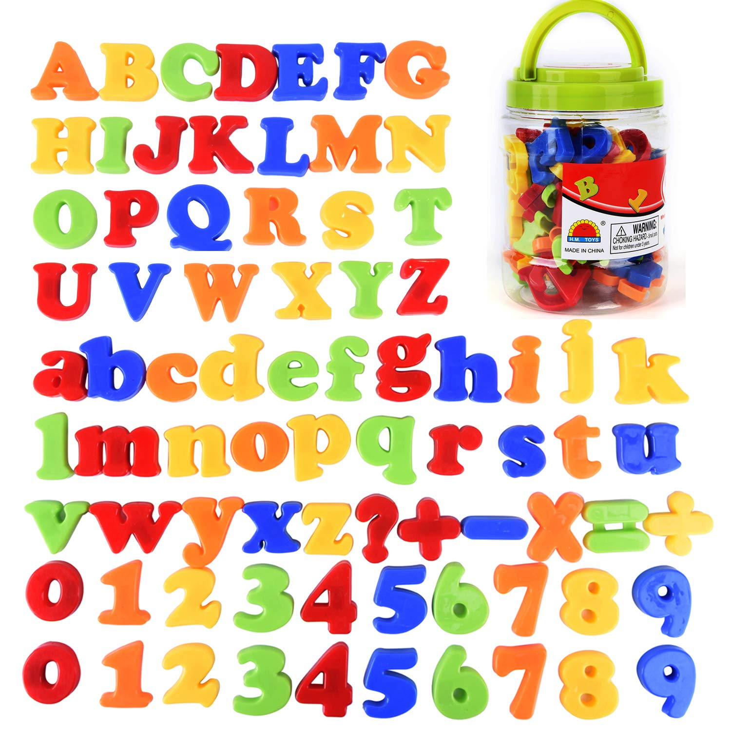 Number and Math Symbols Buytra 78 Pieces Magnetic Letters and Numbers for Educating Kids Educational Alphabet Refrigerator Magnets ABC Magnets Including Uppercase Lowercase