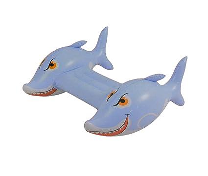 Tiburon hinchable para niños. Para patalear en la piscina o en la ...