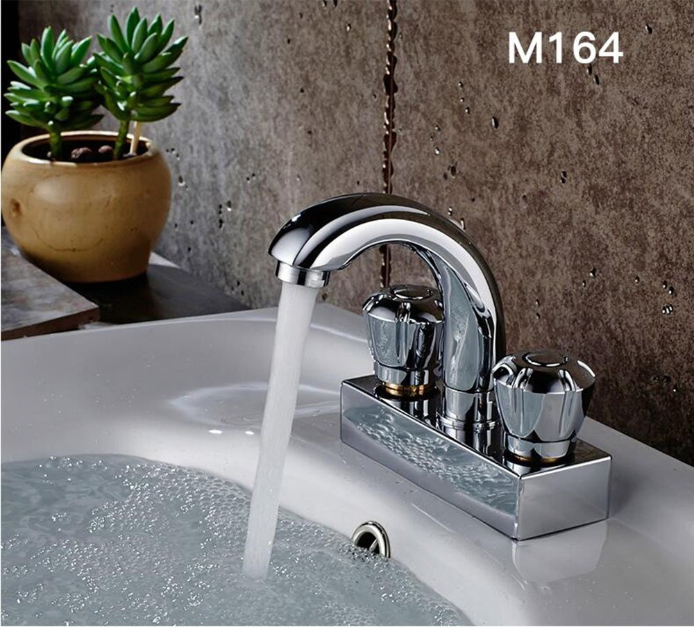 C Bathroom double double basin basin faucet bathroom full copper mixing valve wash basin basin pots hot and cold faucet ( color   D )