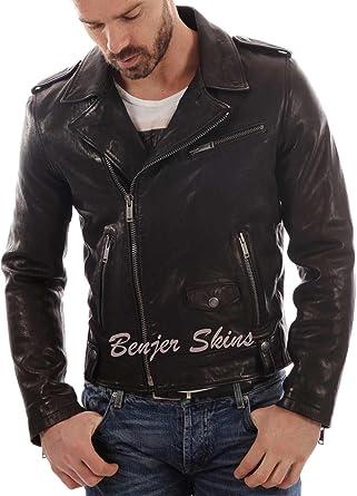 Mens Stylish Lambskin Genuine Leather Jacket 420
