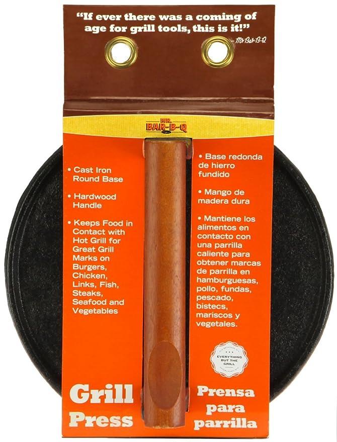 Mr. Bar-BQ Round Cast Iron Meat Press