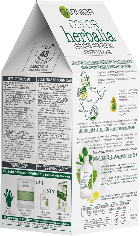 Garnier Herbalia Coloración 100% Vegetal - Castaño Natural, disponible en 6 tonos
