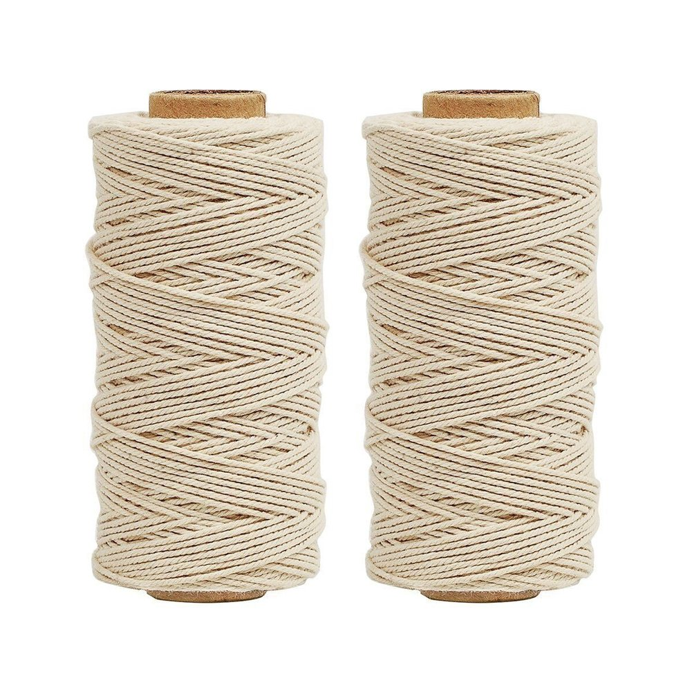 Tenn Well Natural Cooking String, 656 Feet Food Safe Cotton String Kitchen Twine for Cooking Trussing Tying Poultry Meat Making Sausage (328 Feet Each Roll)