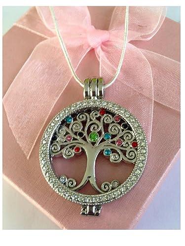 Austauschbar Baum Des Lebens Halskette Kristall Münze Amazonde