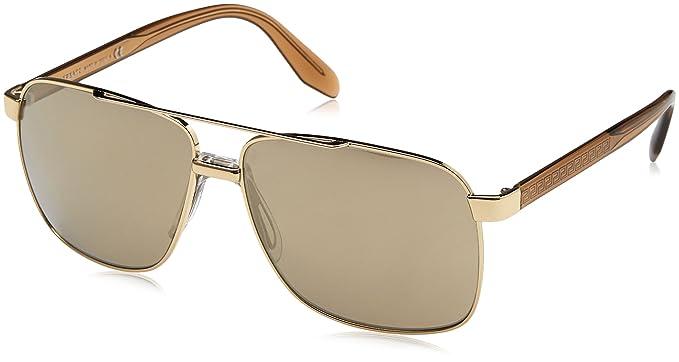 33628c4143 Amazon.com  Versace Mens Sunglasses Gold Gold Metal