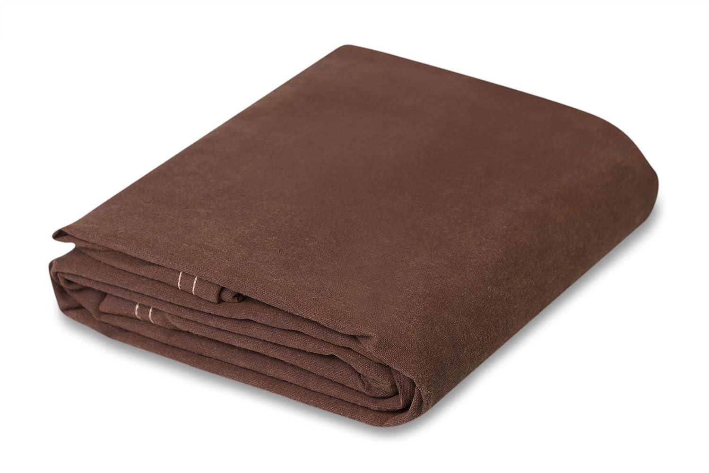 Chicago Dropcloth And Tarpaulin 6 x 8 Brown Canvas Tarpaulin Fox Outdoor Products 81BR-68
