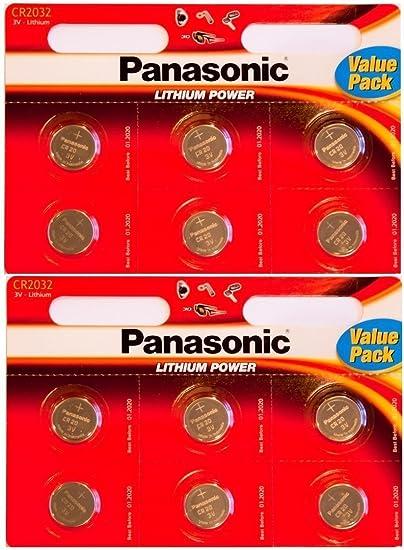 Panasonic Cr2032 Lithium Zellen Akku 3 V 12 Stück Elektronik