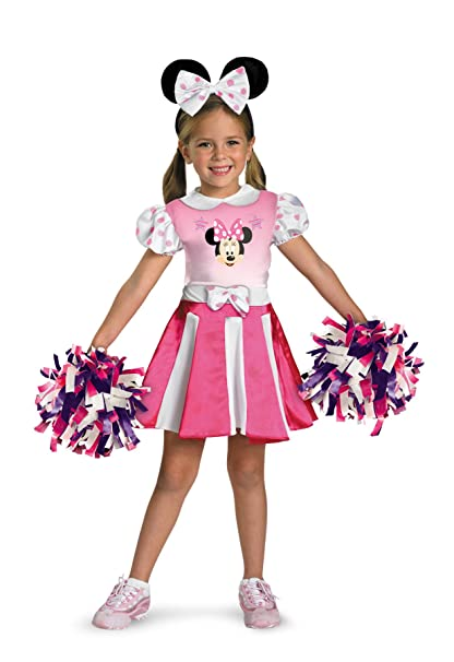 47bd7f6c8ff Amazon.com: Girls Minnie Mouse Cheerleader Kids Child Fancy Dress ...