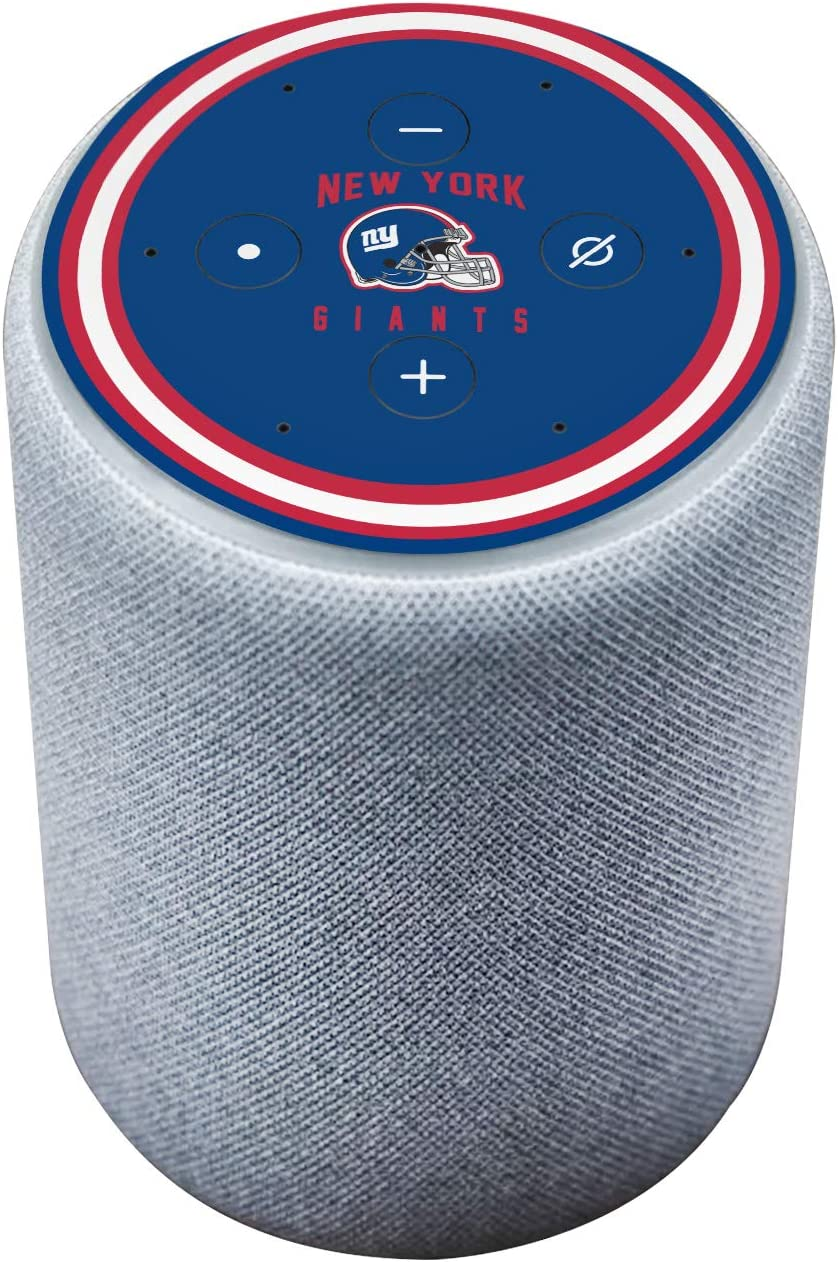 Head Case Designs Officially Licensed NFL Team Colour Helmet New York Giants Matte Vinyl Sticker Skin Decal Cover Compatible with Amazon Echo Plus (2nd Gen)