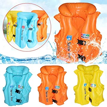 lantusi Children's Inflatable Swimsuit Inflatable Vest PVC Swimming Ring Life Jackets Life Jackets & Vests