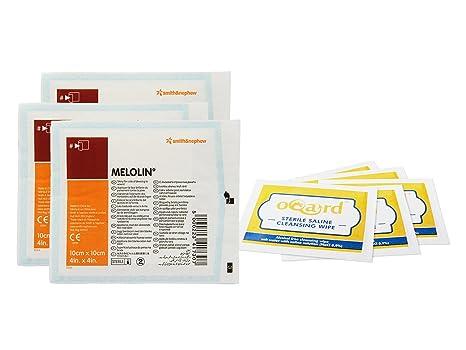 Melolin – Compresa absorbente (10 x 10 cm) con oqard Salina – Toallitas húmedas