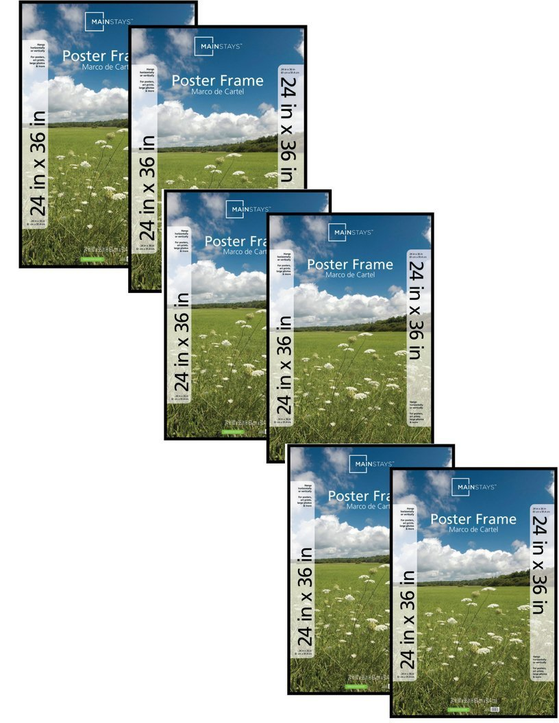 Amazon.com: Mainstays`` 24x36 Basic Poster & Picture Frame Black ...