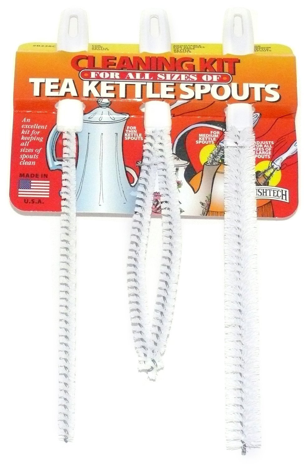 Brushtech Tea Kettle Spouts Cleaning Brush Kit B228C, Set of 2