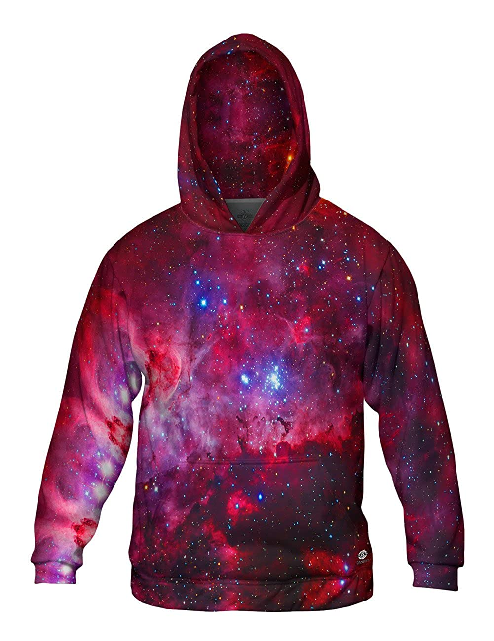 Yizzam Mens Hoodie Sweater 0777 Allover Print Great Carina Nebula Pink Sp