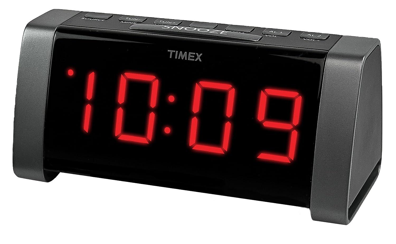 timex t235by am fm dual alarm clock radio black. Black Bedroom Furniture Sets. Home Design Ideas