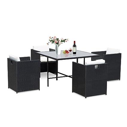 Muebles jardin de ratan mimbre 13 piezas 1 mesa 4 sillones ...