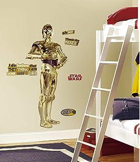 RoomMates RMK1591GM Pegatinas de pared C3PO Gigante (11 elementos) Estándar